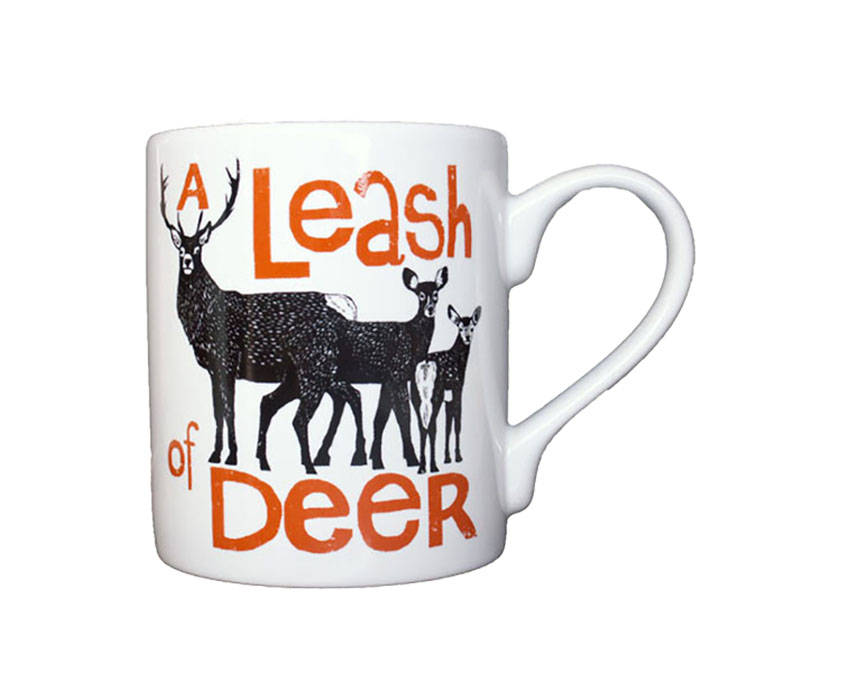 Large Collective Noun Mug – Deer
