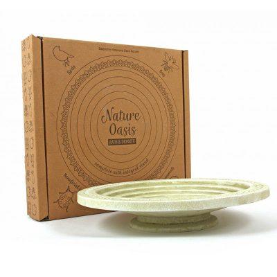 Oasis bird bath in gift box