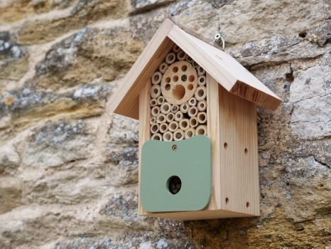 Bee Barn solitary bee house on wall