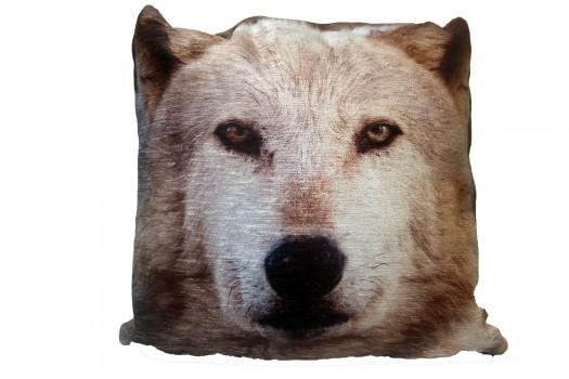 43cm Cushion - Wolf