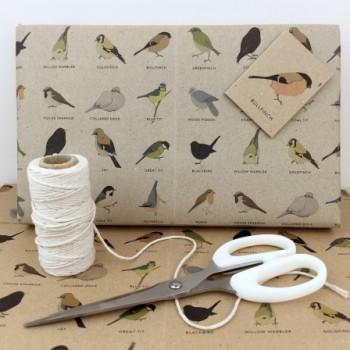 Garden Bird Gift Wrap Set